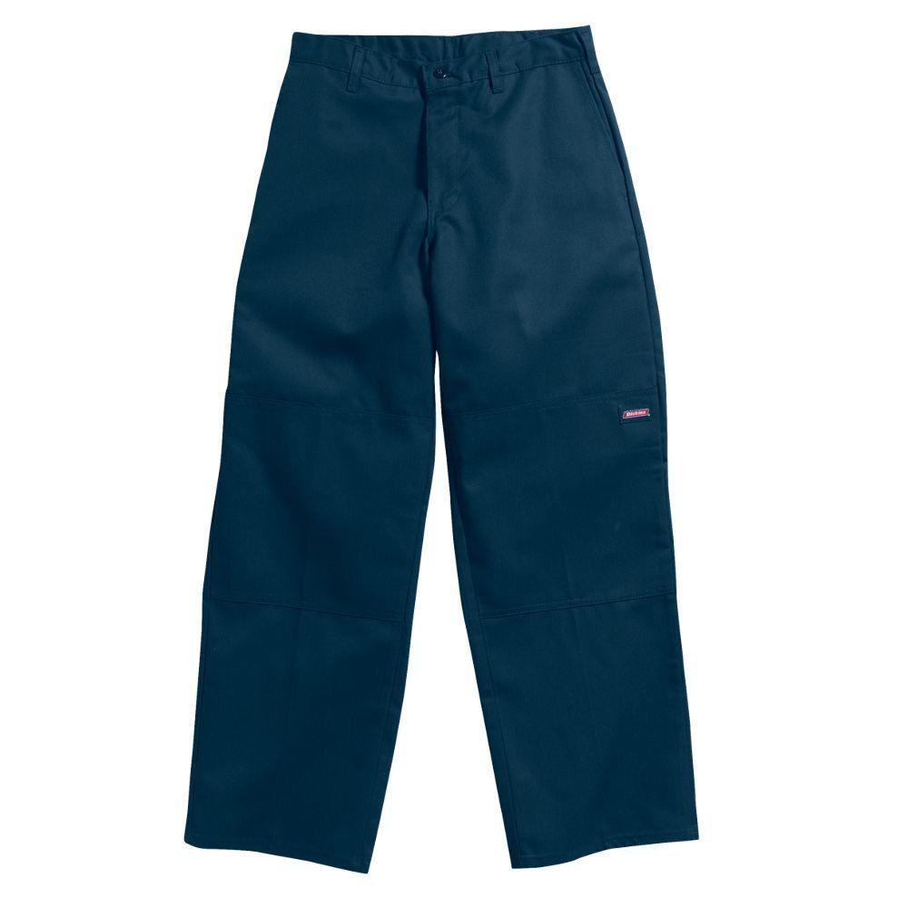 Dickies Loose Fit 46 in. x 32 in. Polyester Double Knee Multi-Use Pocket Pant Dark Navy-DISCONTINUED