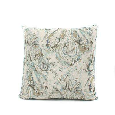 Italiano Linen Polyester Fill 24 in. x 24 in. Standard Euro Pillow