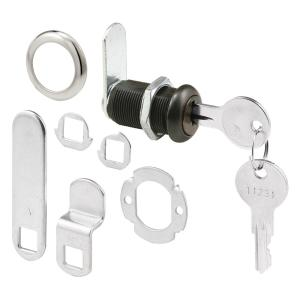 Prime-Line 1-3/8 inch Classic Bronze Drawer and Cabinet Lock by Prime-Line