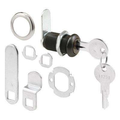 1-3/8 in. Classic Bronze Drawer and Cabinet Lock