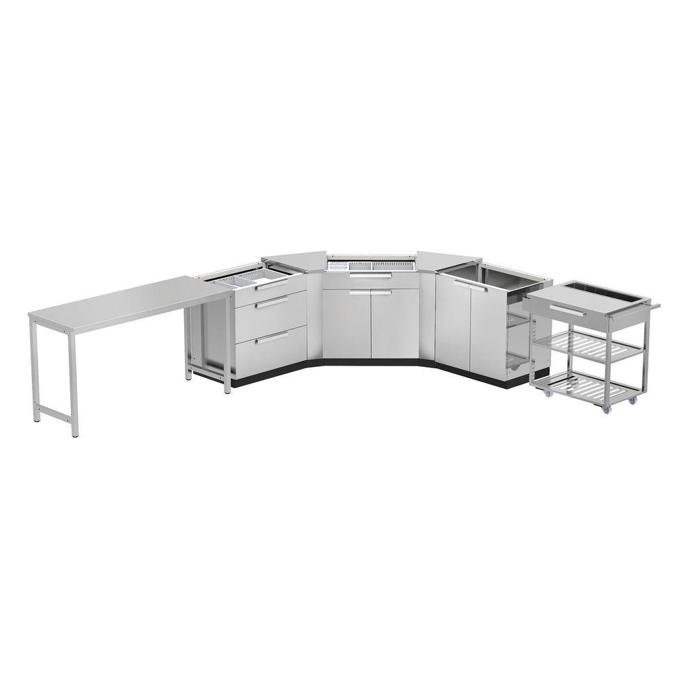 NewAge Products Stainless Steel Classic 7-Piece 150x36x86