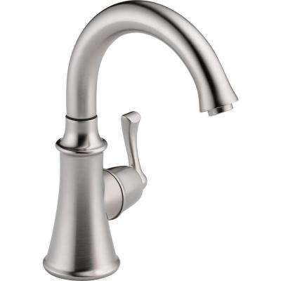 Traditional Single-Handle Water Dispenser Faucet in Arctic Stainless