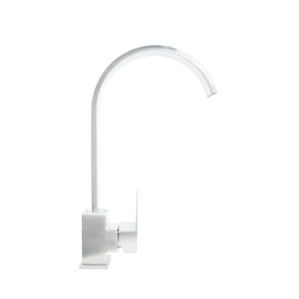 BOANN Doris Single-Handle Standard Kitchen Faucet in Stainless Steel