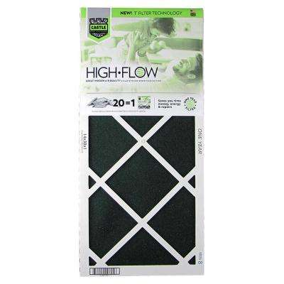 14 in. x 30 in. HVAC Air Filter - FRP 8 1-Year High Flow Filter