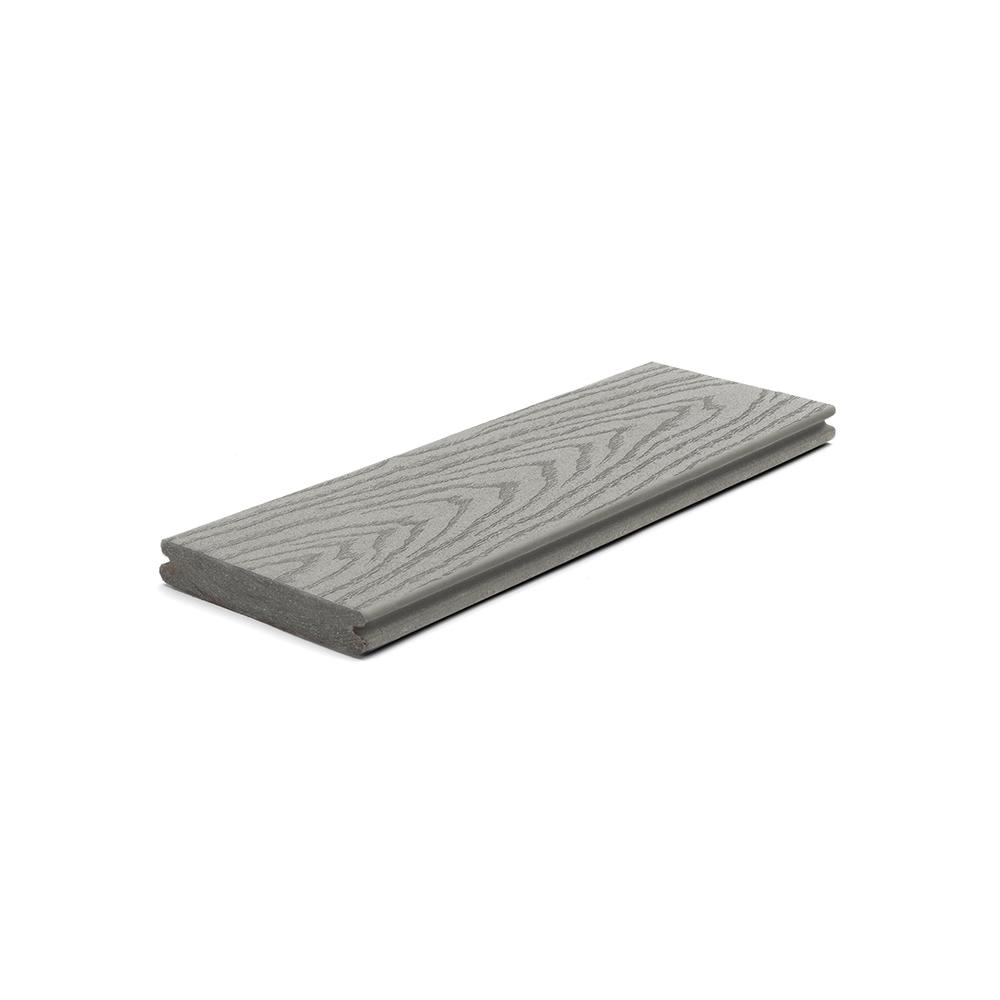Select 1 in. x 5.5 in x 1 ft. Pebble Grey Composite Decking Board Sample