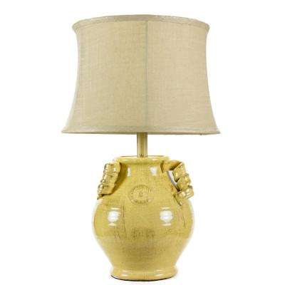 24 In. Yellow Table Lamp