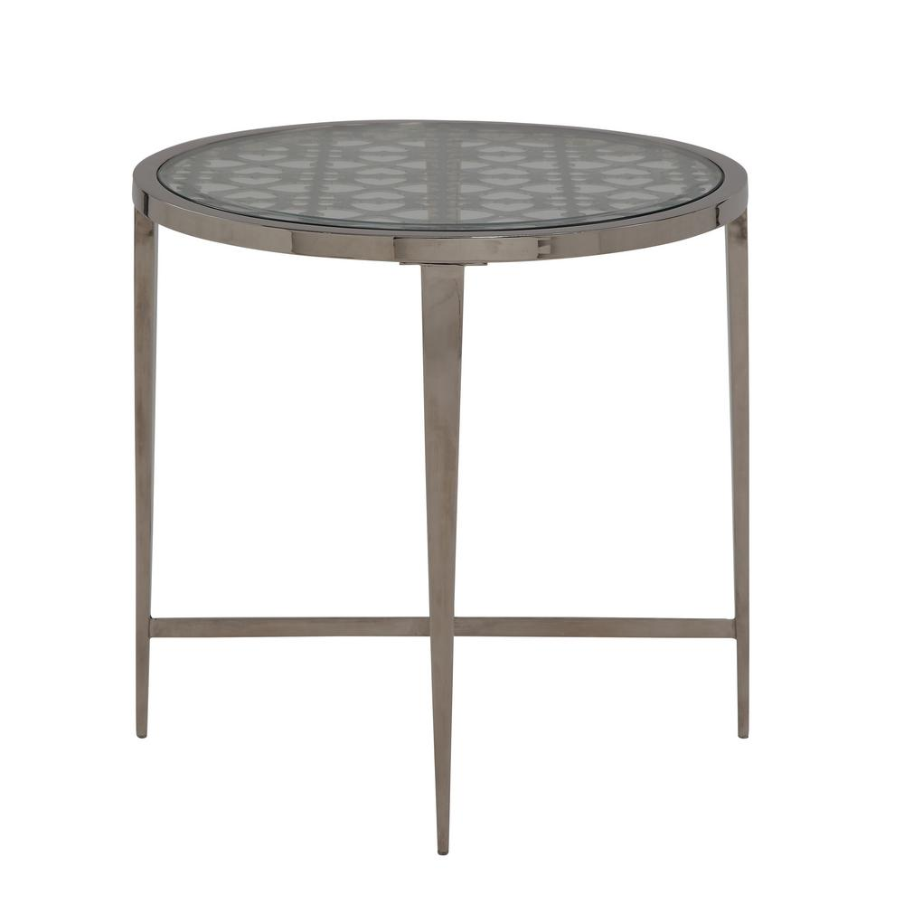 Acme Furniture Helge Chrome And Clear Glass End Table