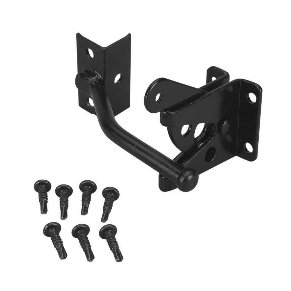 First Alert Steel Black Fence Gravity Gate Latch Kit