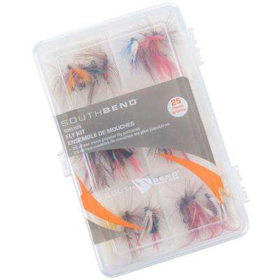Fly Kit Fishing Hooks (25-Piece)