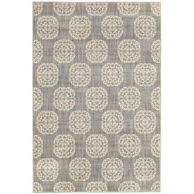 Essex Medallion Grey 10 ft. x 12 ft. Area Rug
