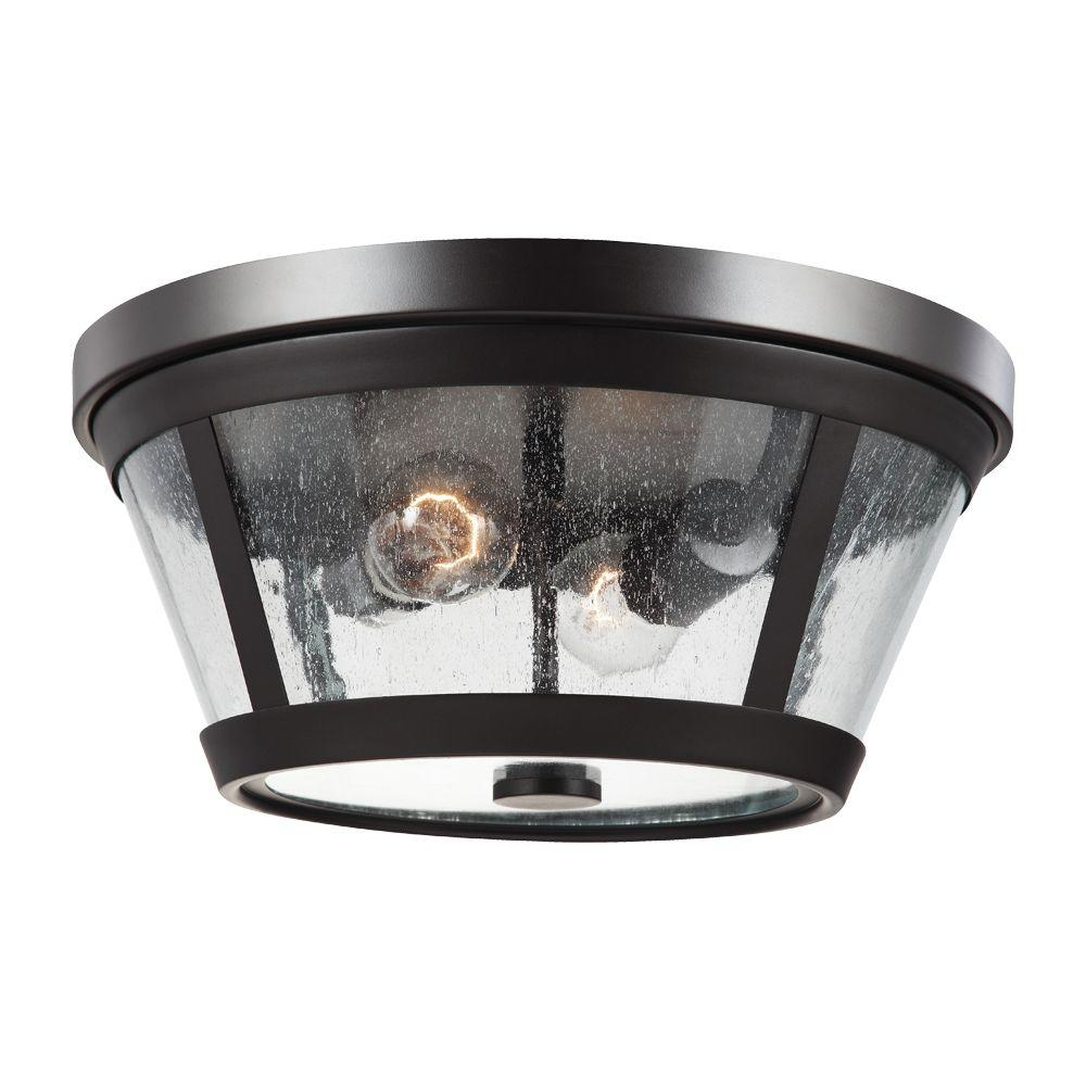 Harrow 2-Light Oil Rubbed Bronze Flush Mount