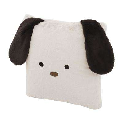 Faux Fur Plush Dog Pillow in Taupe