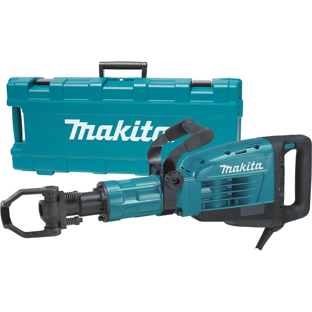 Makita 14 Amp 1-1/8 in. Corded Variable Speed 35 lb. Demolition Hammer w/ Soft Start, LED, (2) Bull Points and Hard Case