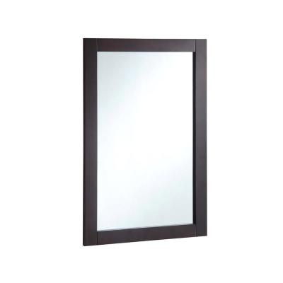 20 in. W x 30 in. H Wall Mounted Vanity Decor Mirror in Espresso