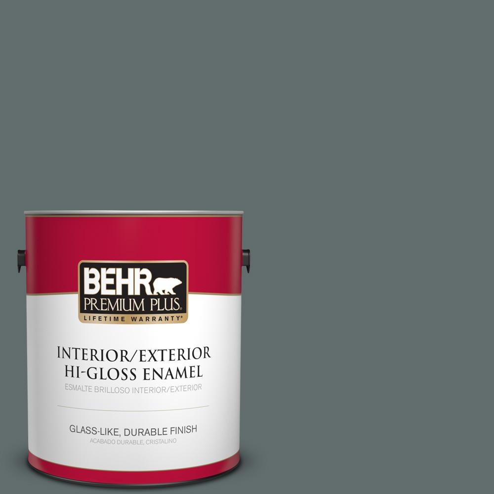 1 gal. #PPU12-19 Mountain Pine Hi-Gloss Enamel Interior/Exterior Paint