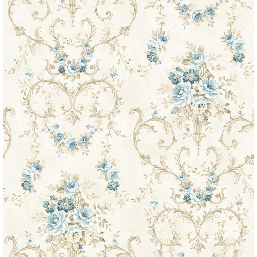 Eliza Blue Bouquet Wallpaper