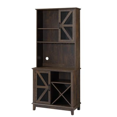 Home Source 72 in. Height and 31 in. Wide Oak Bar