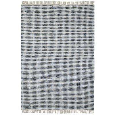 Blue Dots Cotton 2 ft. x 5 ft. Rag Runner