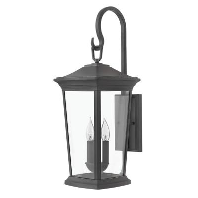 Bromley Extra-Large 3-Light Museum Black Outdoor LED Wall Mount Lantern