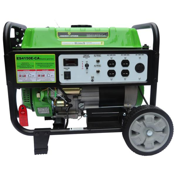 Energy Storm 3200/3500-Watt Gas Powered Electric/Recoil Start Gasoline Powered 225 cc Portable Generator with Wheel Kit