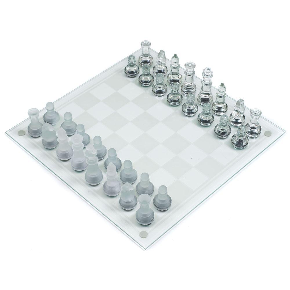 Trademark Games Deluxe Glass Chess Set-12-BG030 - The Home Depot