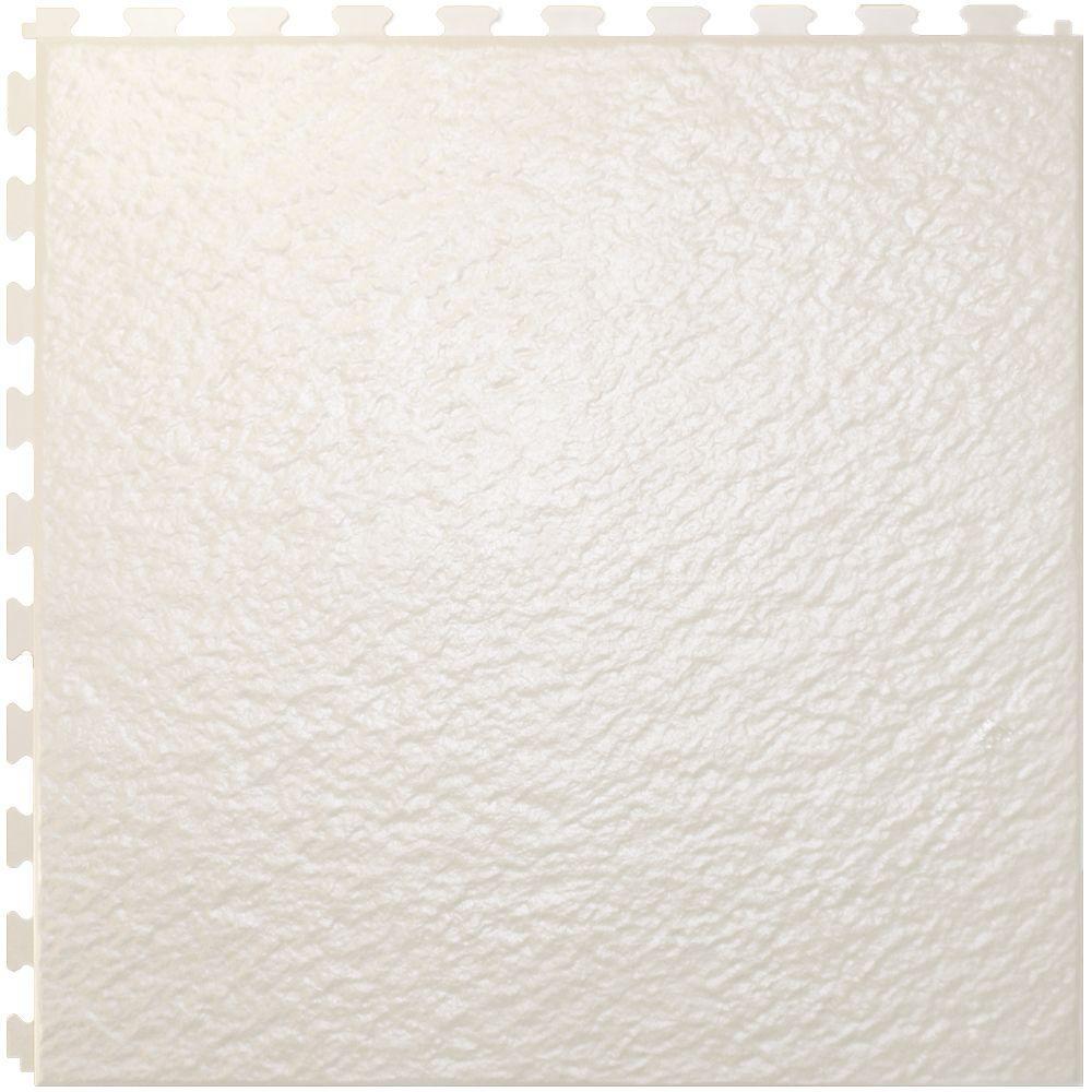 IT-tile Slate White  20 In. x 20 In.  Vinyl Tile, Hidden Interlock Multi-Purpose Floor,  6 Tile