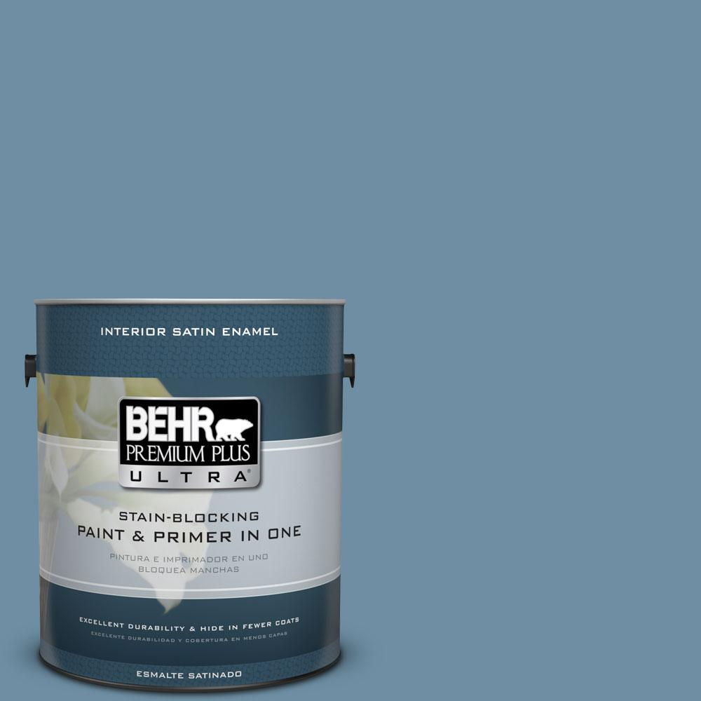 BEHR Premium Plus Ultra 1-Gal. #PPU14-4 French Court Satin Enamel Interior Paint
