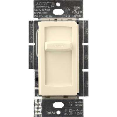 Skylark Contour Slide C.L Dimmer Switch for Dimmable LED, Incandescent and Halogen Bulbs, Single-Pole, Light Almond
