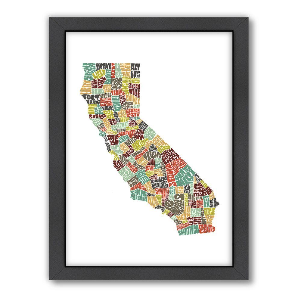 "Americanflat 27 in. x 21 in. ""California Color"" by Joe Brewton Framed Wall Art"