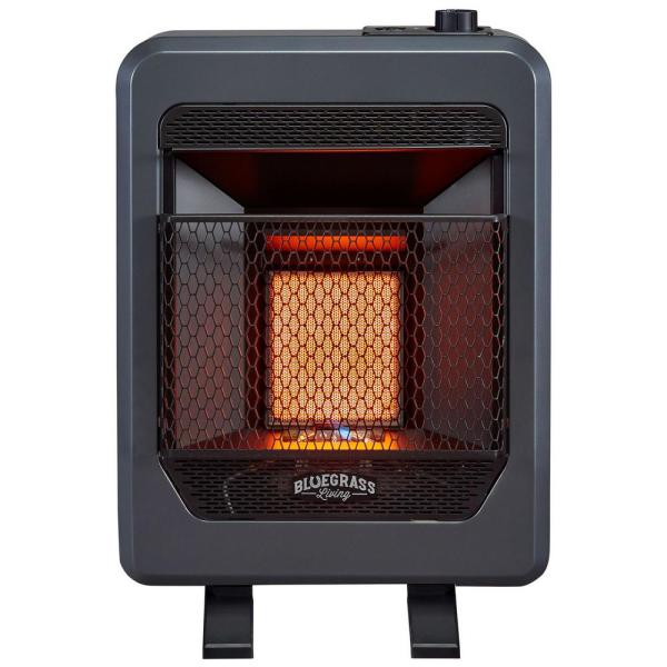 Bluegrass Living 10 000 Btu Vent Free Propane Gas T Stat Control Infrared Gas Space Heater With Base Feet 200085 The Home Depot