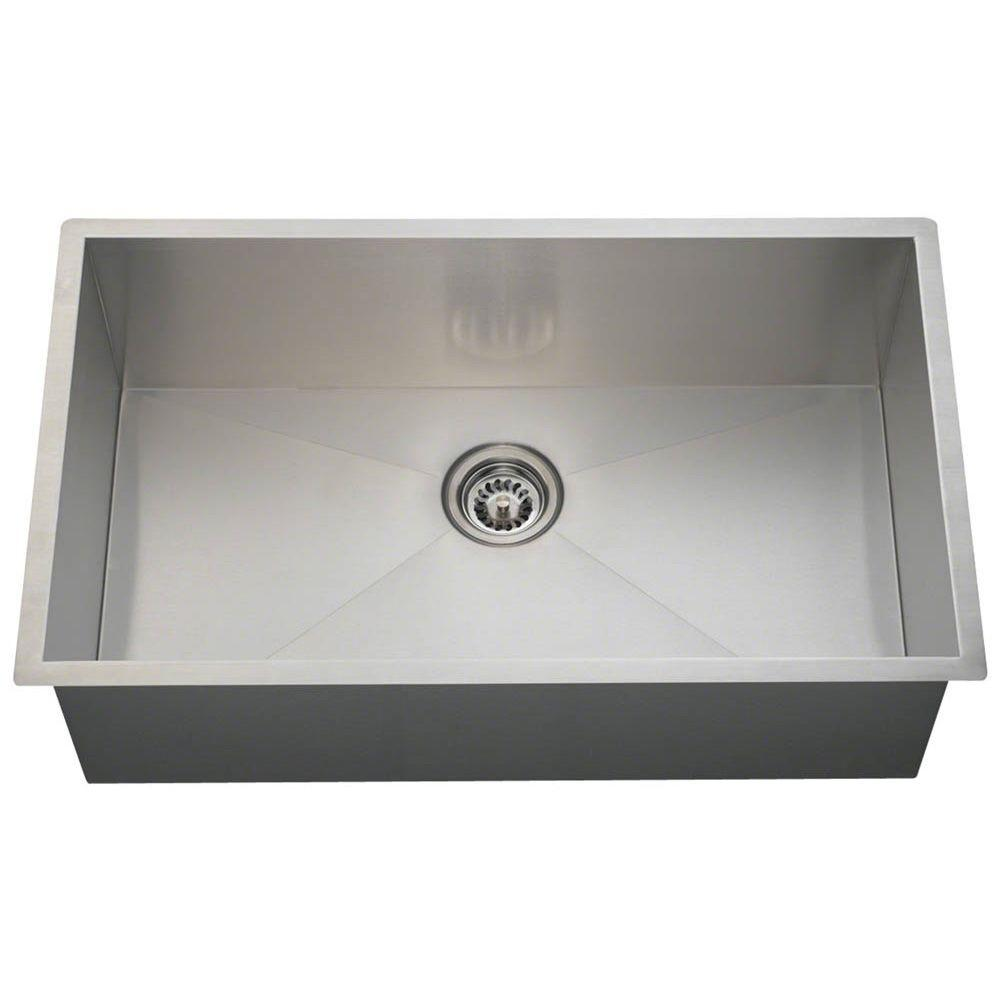 Etonnant Polaris Sinks Undermount Stainless Steel 32 In. Single Bowl Kitchen Sink