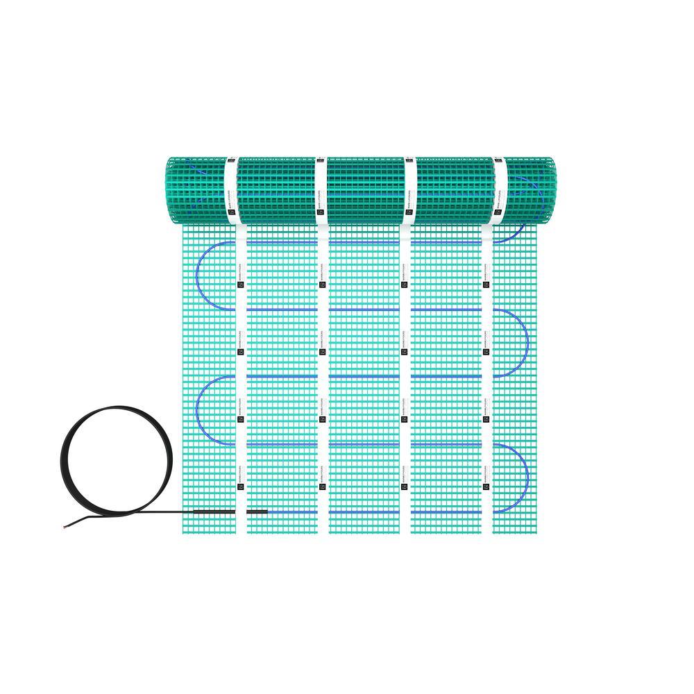 TempZone 24 ft. x 24 in. 120-Volt Radiant Floor Heating Mat (Covers 48 sq. ft.)