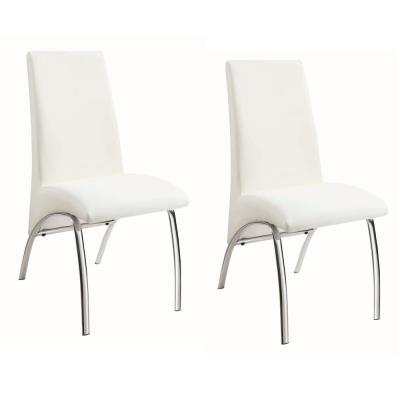 Ophelia Dining Chairs White and Chrome (Set of 2)