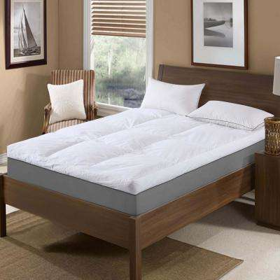 233 Thread Count Cotton Queen Feather Topper