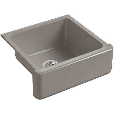 Whitehaven Farmhouse Apron-Front Cast Iron 24 in. Single Basin Kitchen Sink in Cashmere