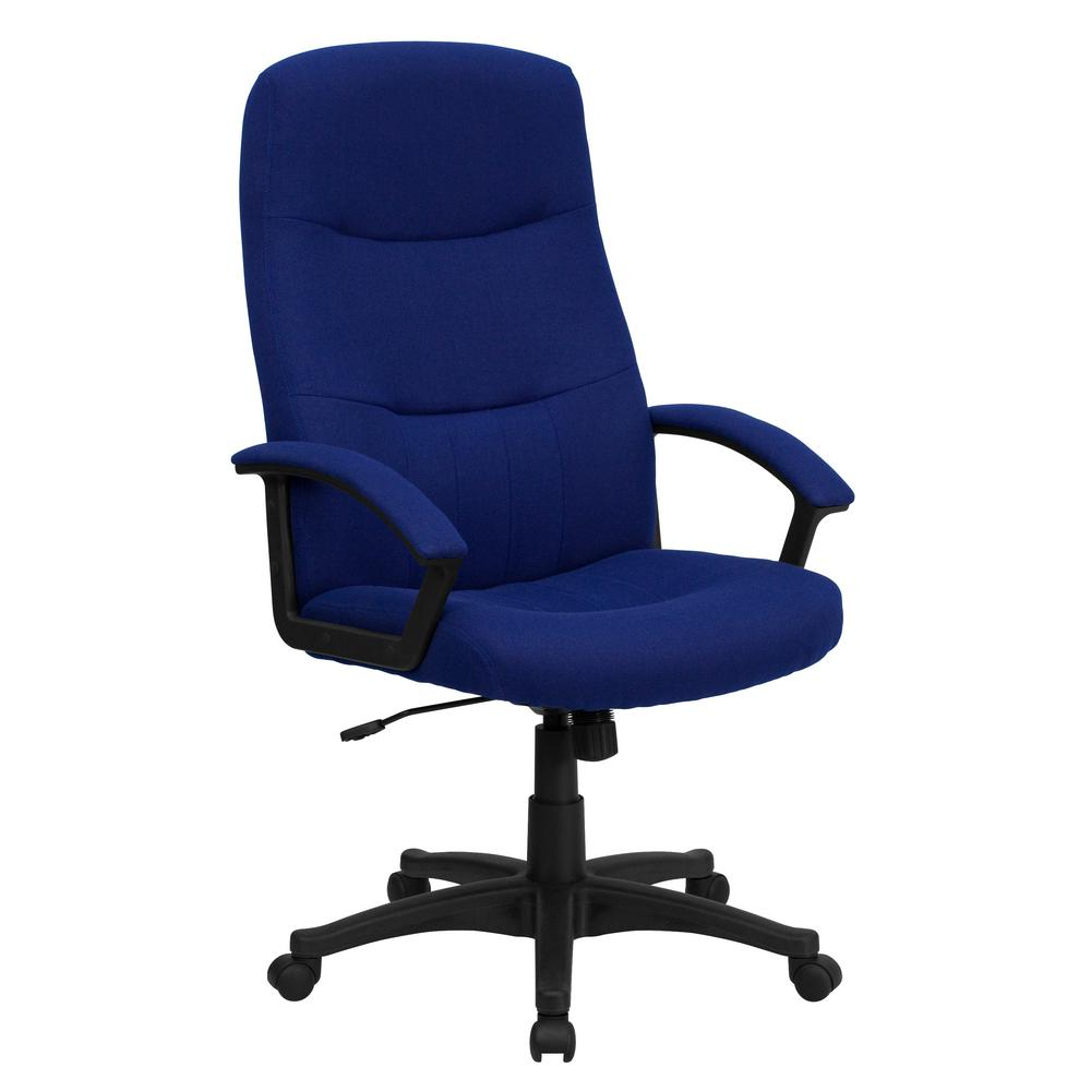 office chair fabric. Flash Furniture High Back Navy Blue Fabric Executive Swivel Office Chair-BT134ANVY - The Home Depot Chair I