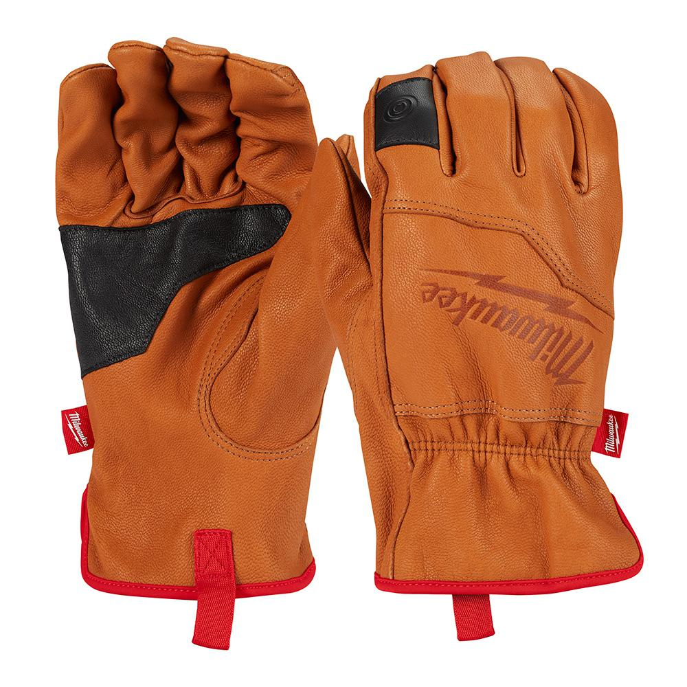 Milwaukee Milwaukee X-Large Goatskin Leather Gloves, Adult Unisex, Brown