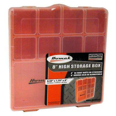 13-Compartment Orange Small Parts Organizer
