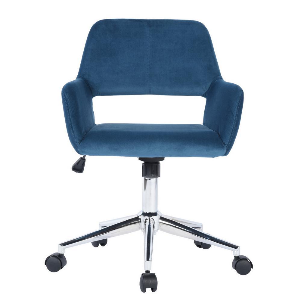 Ross Blue Velvet Home Task Chair