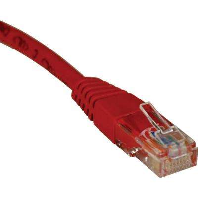 5 ft. Cat5e / Cat5 350MHz Molded Patch Cable RJ45M/M, Red