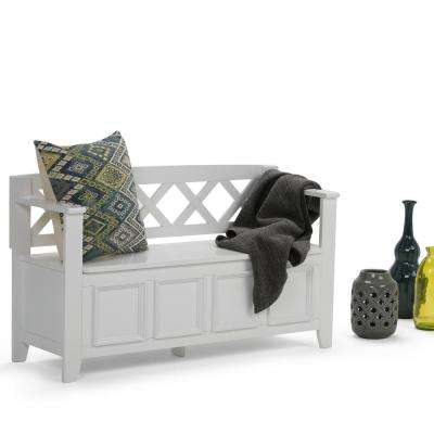 Amherst White Storage Bench