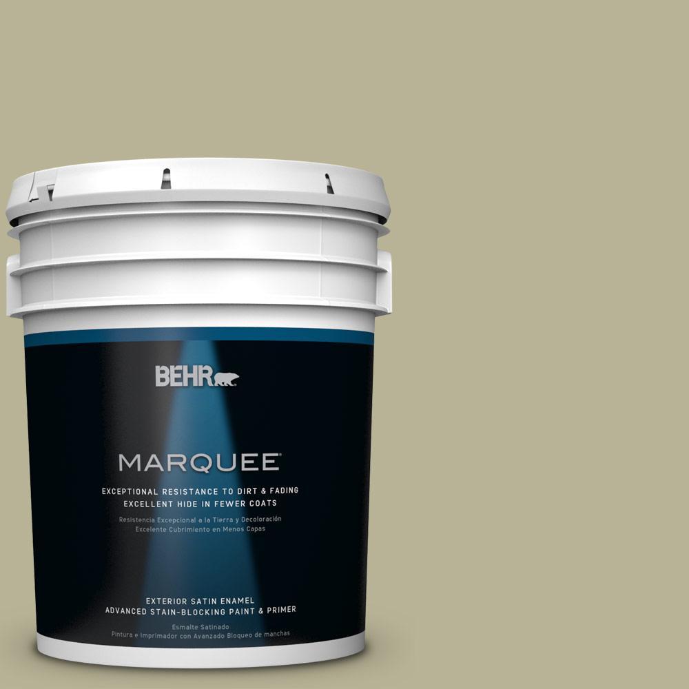 BEHR MARQUEE 5-gal. #PPU9-9 Seedling Satin Enamel Exterior Paint