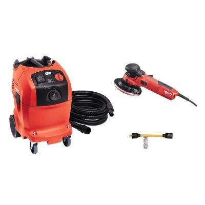 10.9 Amp 120V 5 in. DGH 130 Diamond Grinder Kit with VC 150-10 XE Universal Wet/Dry Vacuum and 15A Twist Lock Adapter