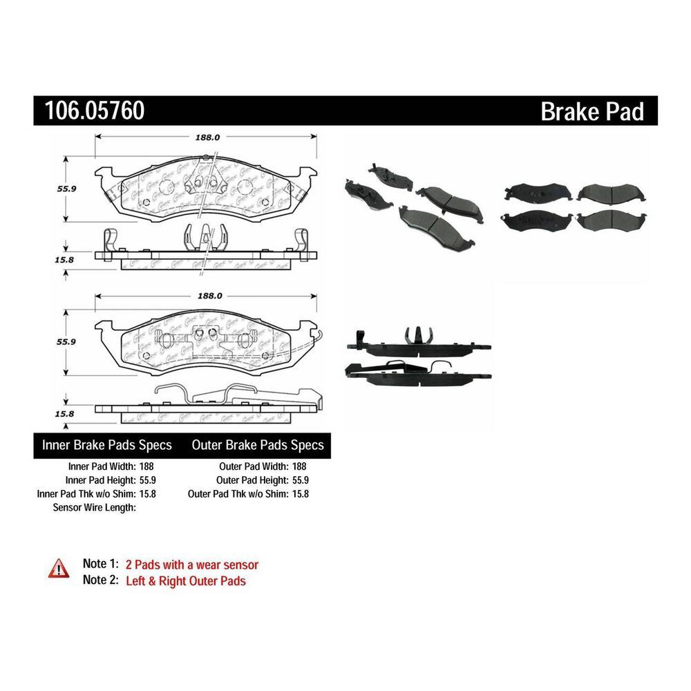 Centric Parts Disc Brake Pad Set 1993-1998 Nissan Quest