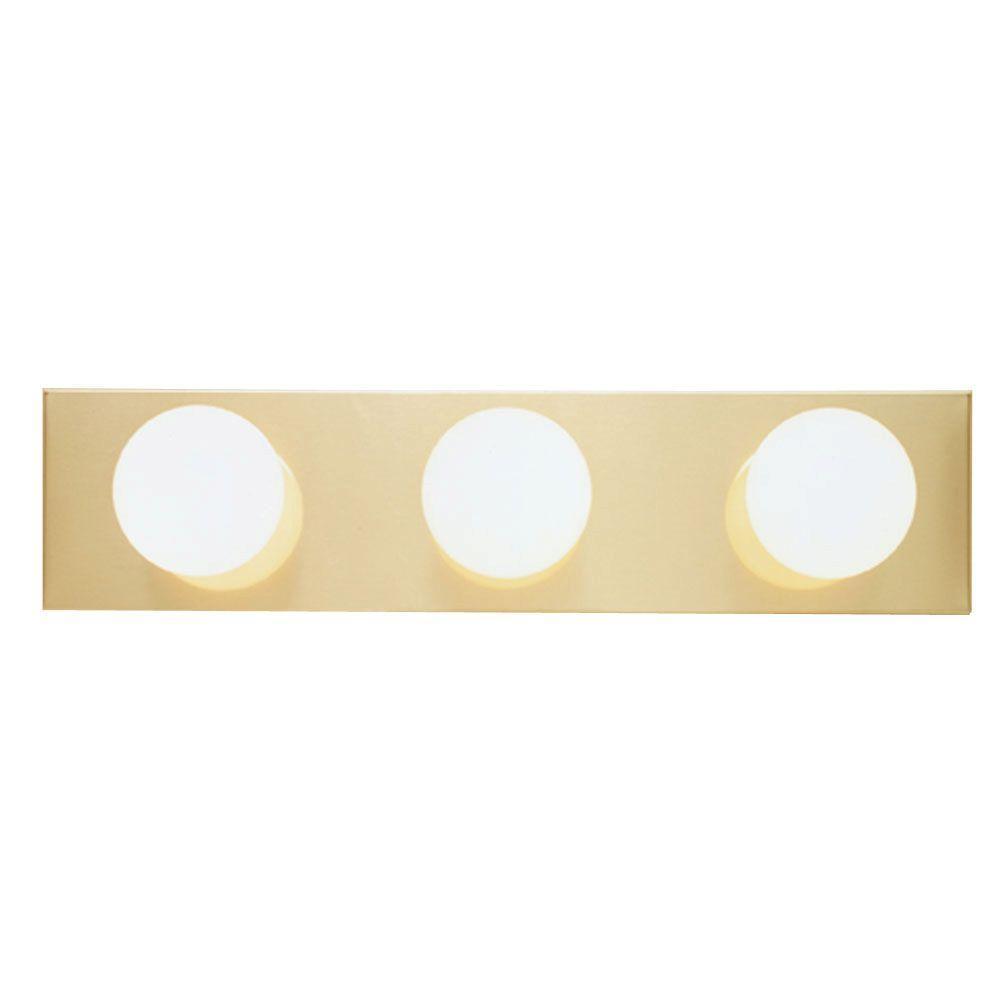 Westinghouse 3 light polished brass interior bath bar - Chapter 3 light bar bathroom light ...