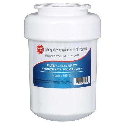 GE MWF Comparable Refrigerator Water Filter by ReplacementBrand