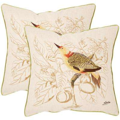 Esty Embroidered Floral Pillow (2-Pack)