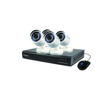 8-Channel TVI 720p DVR with 1TB Hard Drive and 4 x T845 Bullet White Cameras