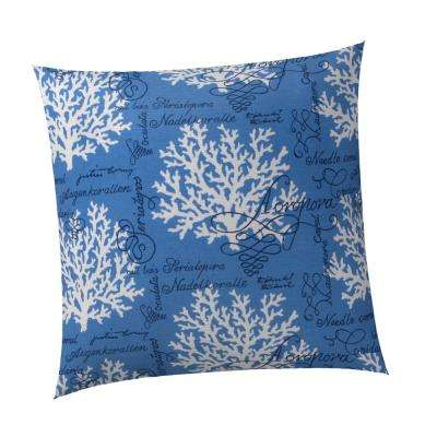 Coral Splendor Square Outdoor Throw Pillow