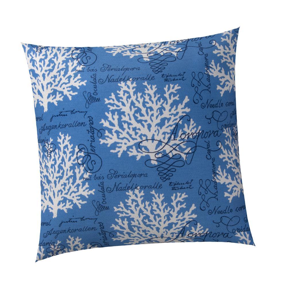 Coral Splendor Square Outdoor Throw Pillow